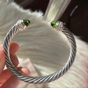 David Yurman peridot diamond bracelet